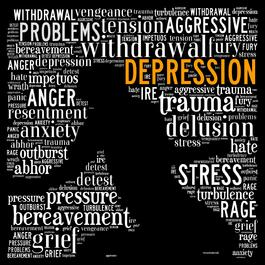 Clip art of depression text
